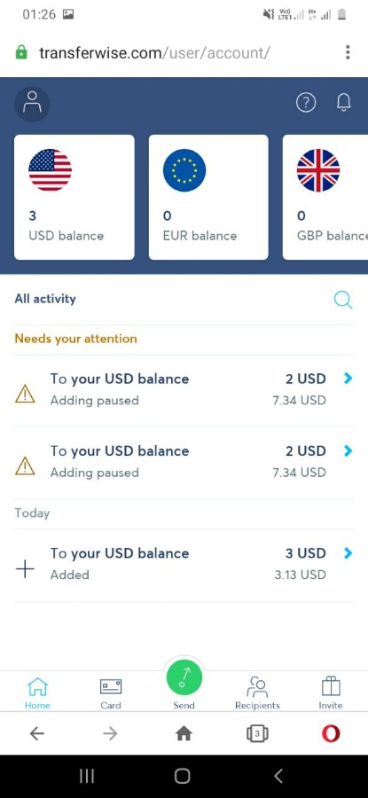 Transferwise full verified USA account