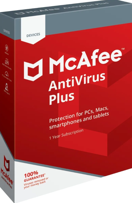 Mcafee Antivirus Plus 1 Year 5 Devices