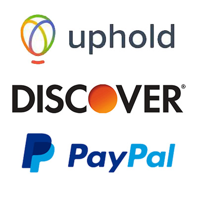 Discover Bank + Uphold USA Verified + Paypal
