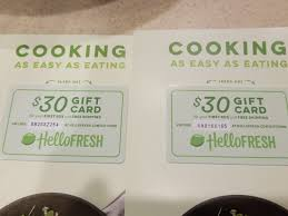 Hello fresh giftcard with 30$ balance