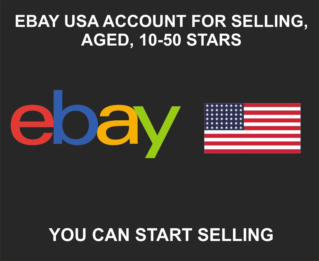 USA Ebay Account For Selling + Email, 1-10 Years Old