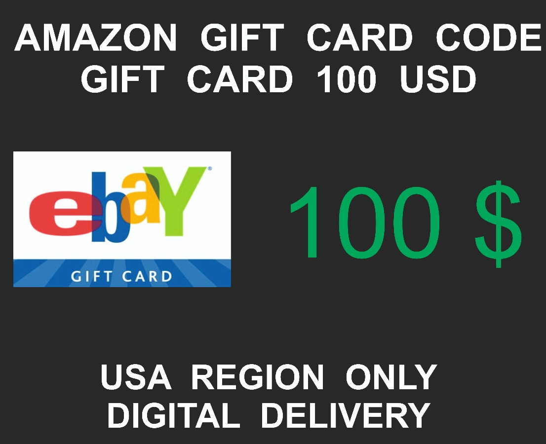 Ebay Gift Card, USA Region, 100 USD value