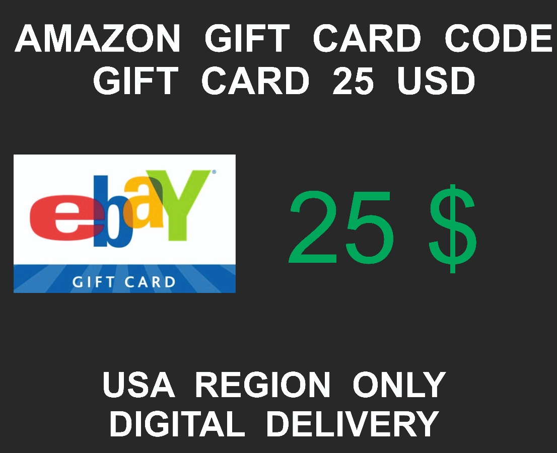 Ebay Gift Card, USA Region, 25 USD value