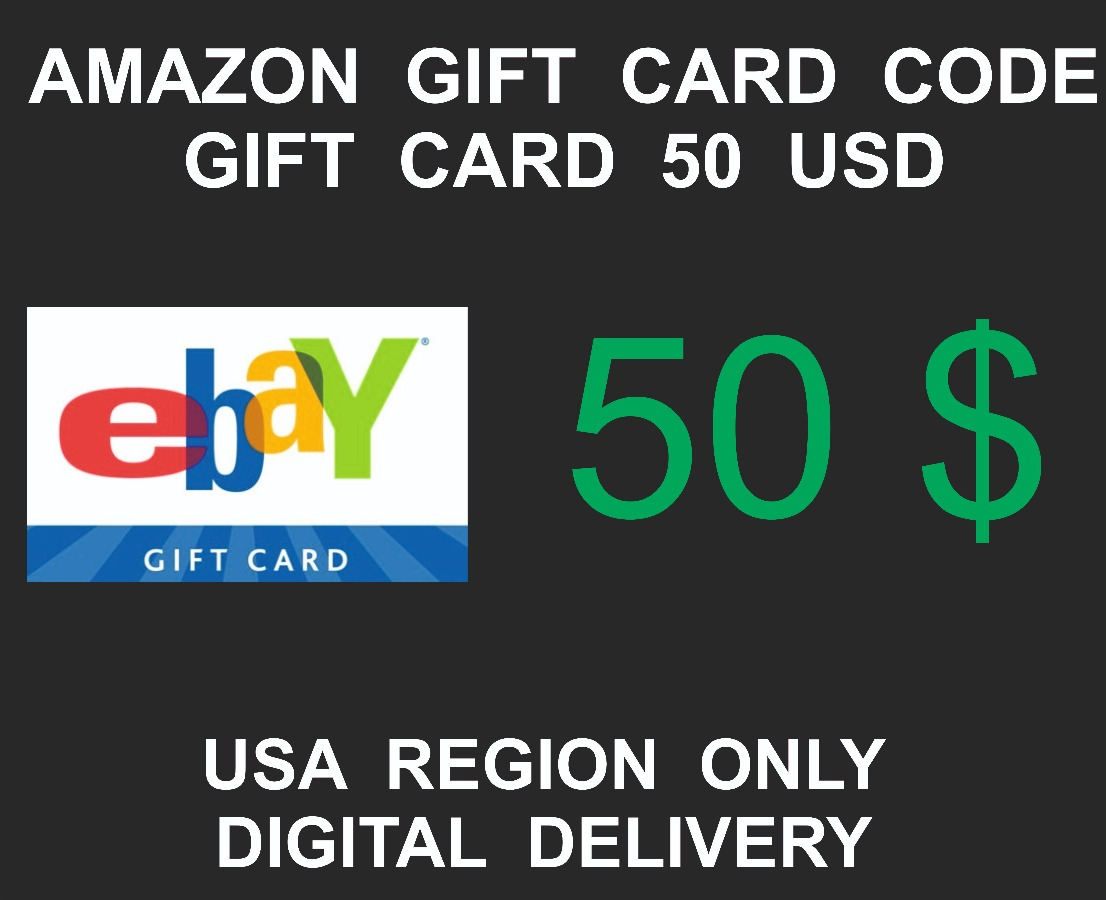 Ebay Gift Card, USA Region, 50 USD value