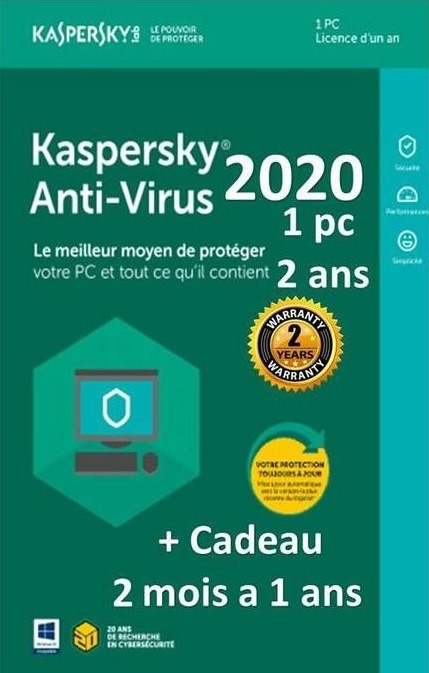 KASPERSKY ANTI-VIRUS 2020/1 DEVICE /2 YEARS ACTIVATION