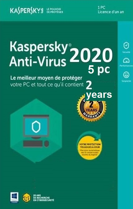 KASPERSKY ANTI-VIRUS 2020/ 5 DEVICE /2 YEARS ACTIVATION