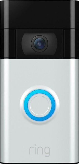 Ring - Video Doorbell (2nd Gen) - Satin Nickel (NEW)