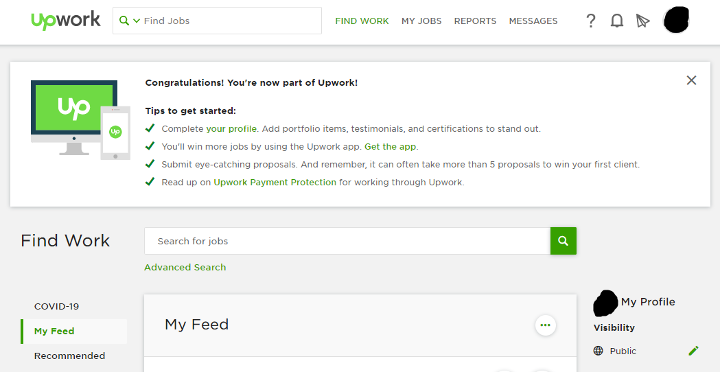 Fully Approved UPWORK Account