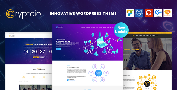 Cryptcio – Innovative WordPress Theme  – GPL Lic...