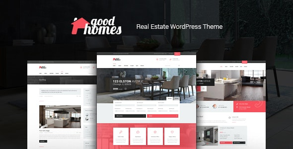 Good Homes - A Contemporary Real Estate WordPress Theme
