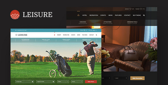 Hotel Leisure - WordPress Theme  – GPL