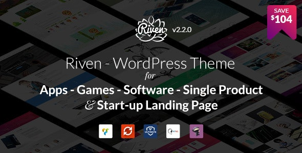 Riven – App, Game, Single Product Landing Page  �...