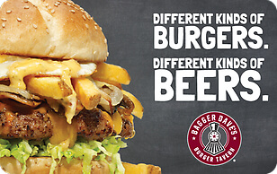 300$ Burgers & Beer E-gift card