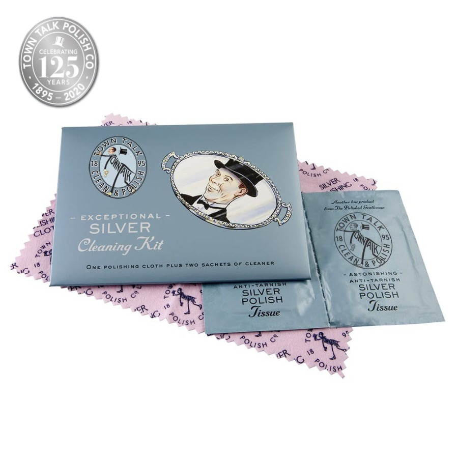 Town Talk Polish – Silver Cleaning Kit Wallet
