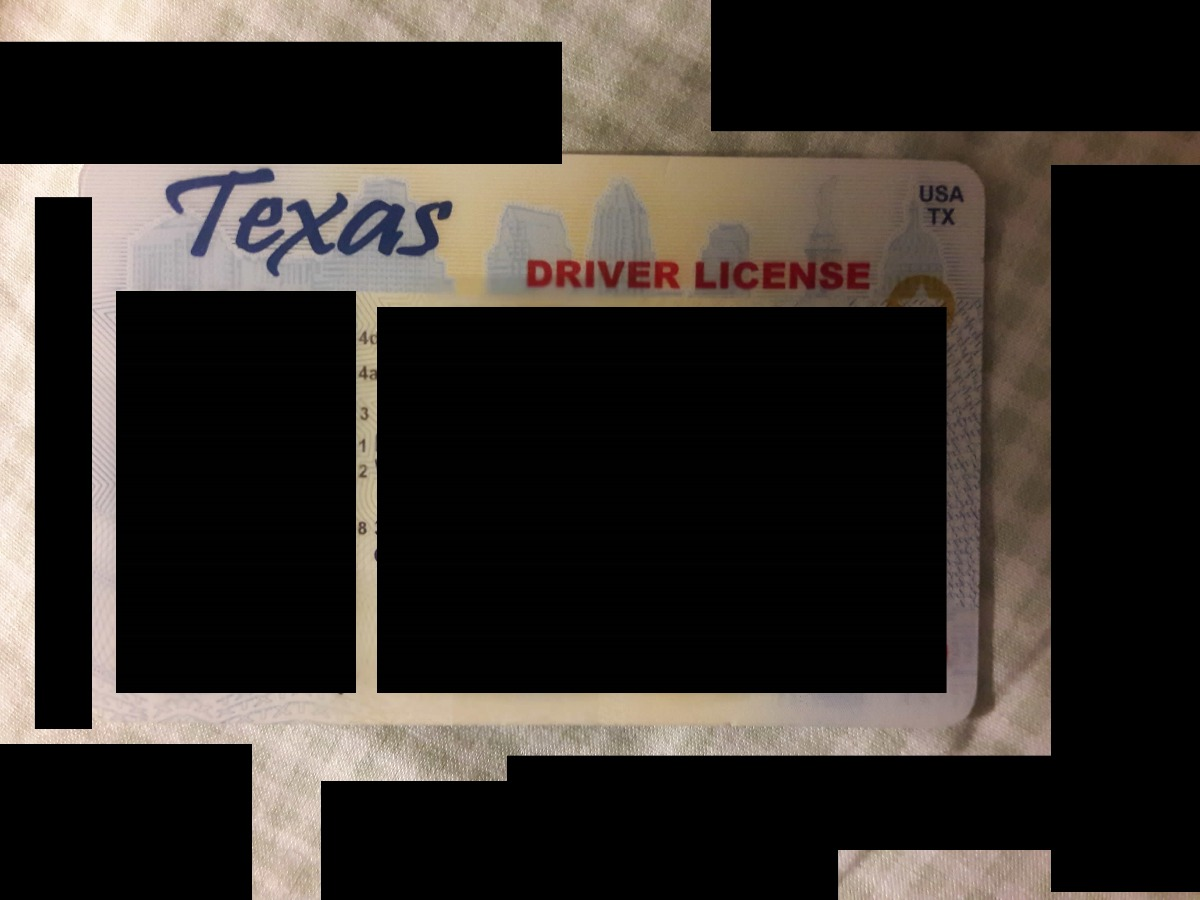 HQ USA Driver License Front+Back+Selfie+Utility Bill