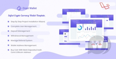 CryptWallet - Crypto Currency Web Wallet Pro