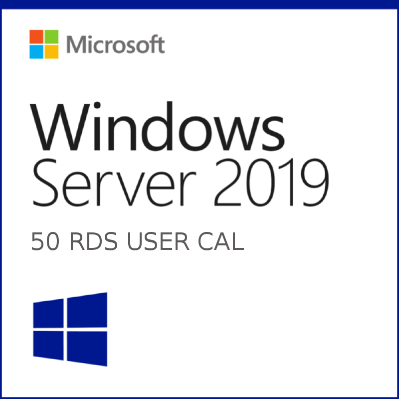 Windows Server 2019 RDS 50 User CAL's Instant deli...