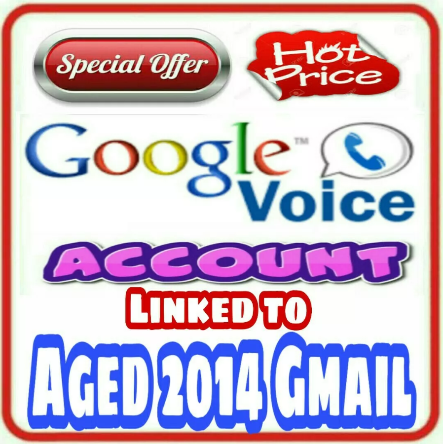 Google Voice Account + Aged 2014 Gmail (linked to it)