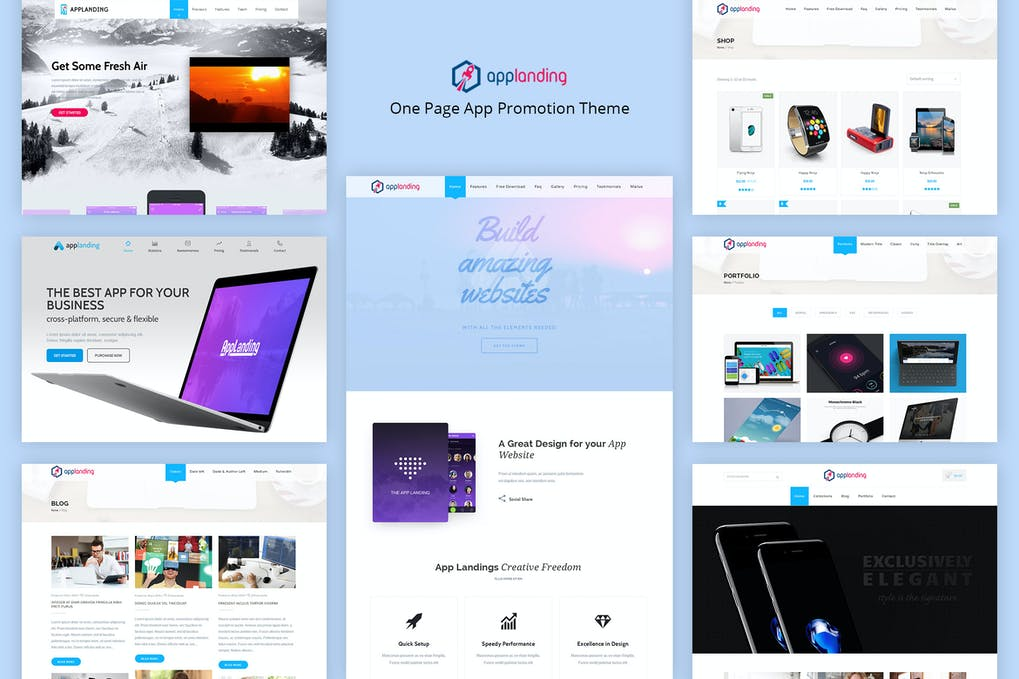 App Promotion - One Page App Promotion Theme – GPL