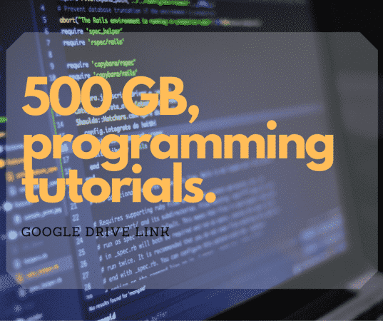 500 GB of Programming languages tutorial
