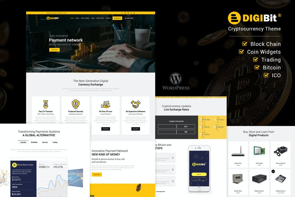 DigiBit – Cryptocurrency Mining WordPress Theme
