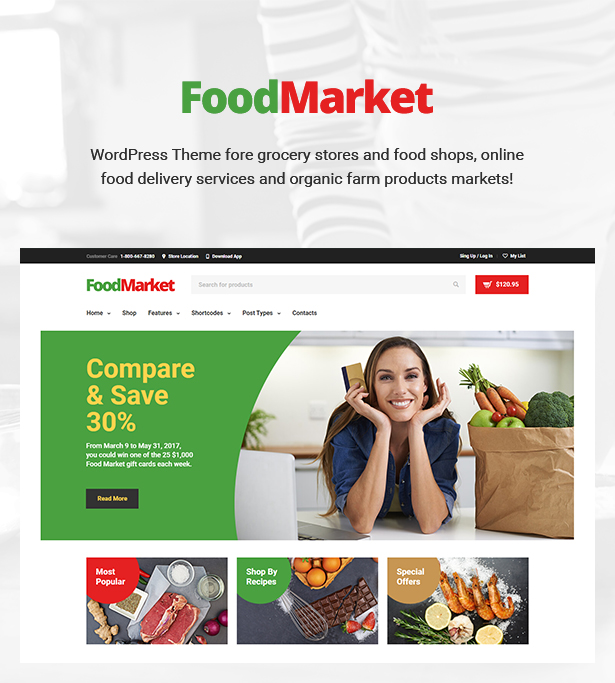 Food Market – Food Shop & Grocery Store WP The...