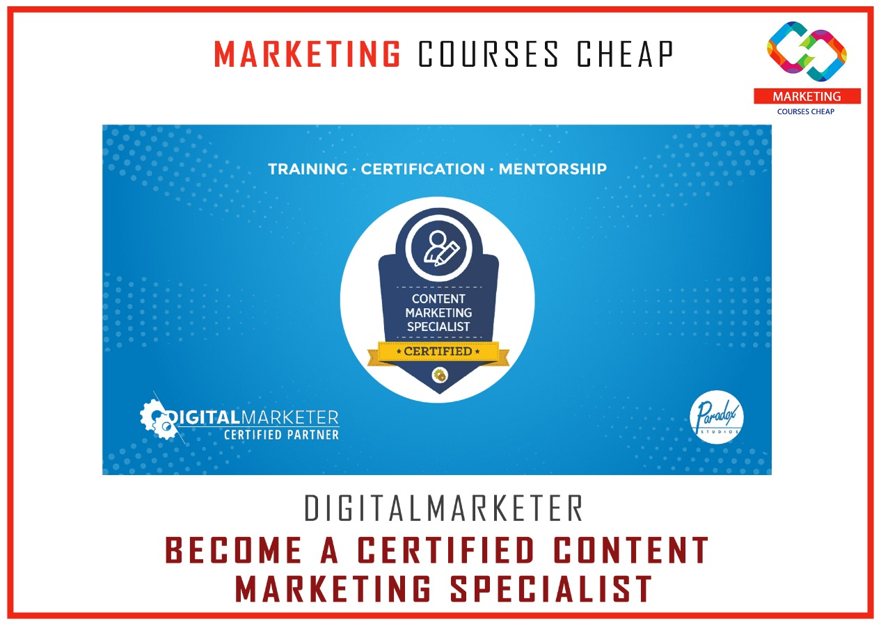 Digitalmarketer Become Certified Content Marketing