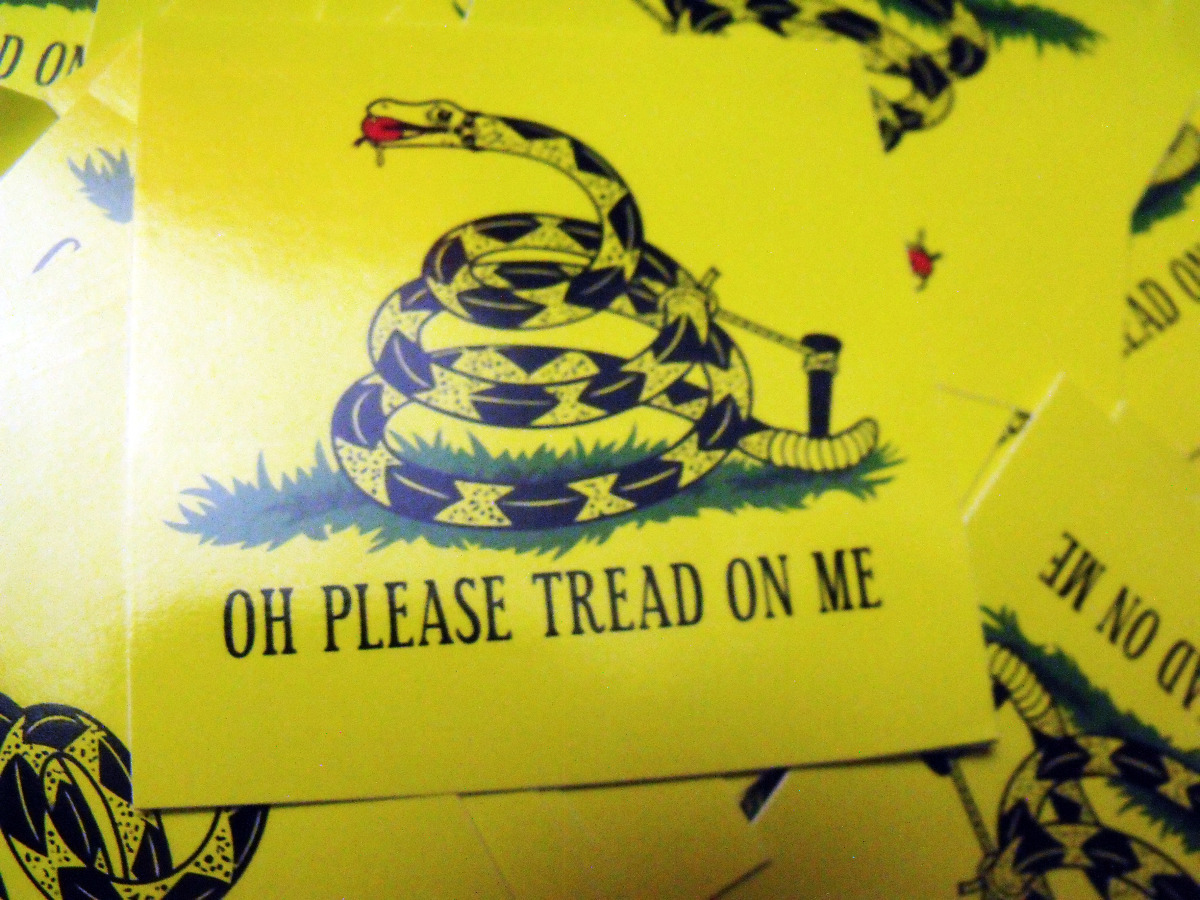 """300 OH PLEASE TREAD ON ME 2.5"""" x 2.5"""" stic..."""