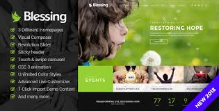 Blessing - Responsive WP Theme for Church Websites