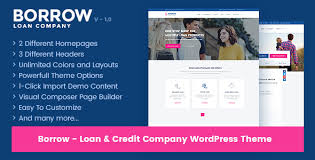 Borrow – Loan Company Responsive WordPress Theme �...