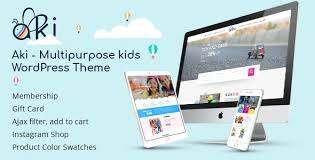 Aki – Multipurpose Kids WordPress Theme – GPL Li...