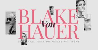 Blake von Hauer – Editorial Fashion Magazine Theme