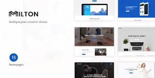 Milton - Multipurpose Creative WordPress Theme  – GPL
