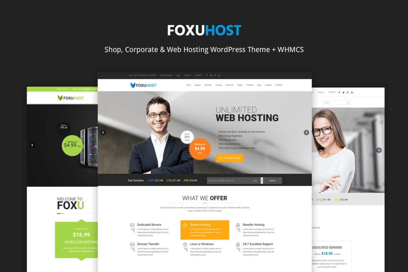 FoxuhHost – Shop, Corporate & Web Hosting Word...