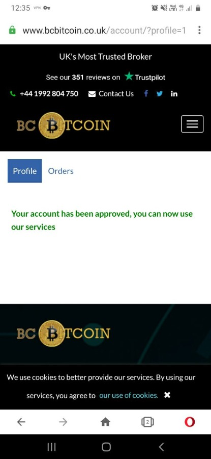 Bc bitcoin UK, USA full verified account