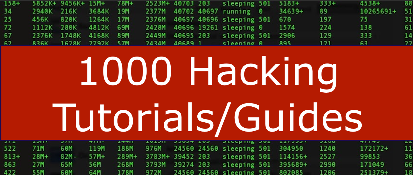 1000 hacking tutorials (instant delivery)