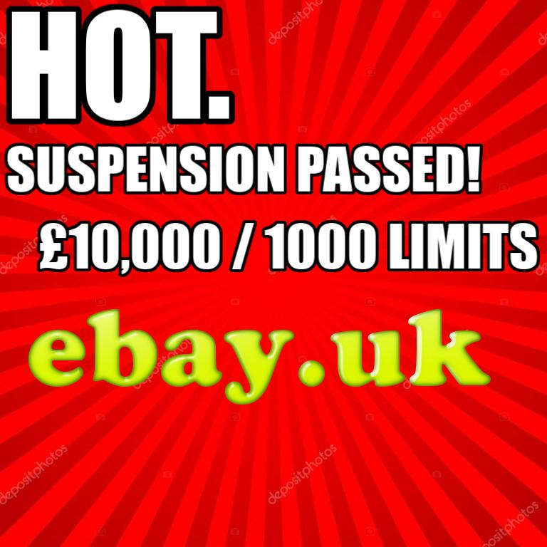 1st Suspension Passed eBay+Paypal £10,000 / 1000 Li...
