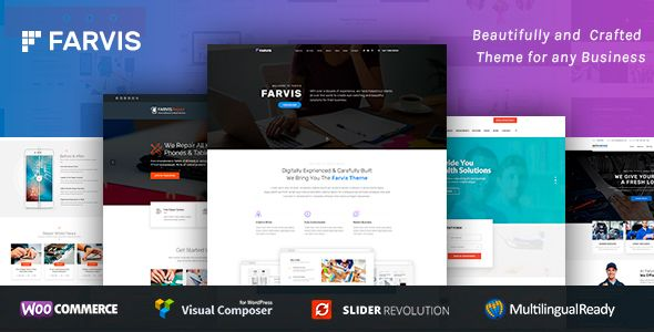 Farvis – Multipurpose WordPress Theme – GPL