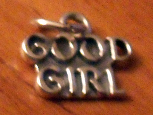 .925 STERLING SILVER GOOD GIRL PENDANT