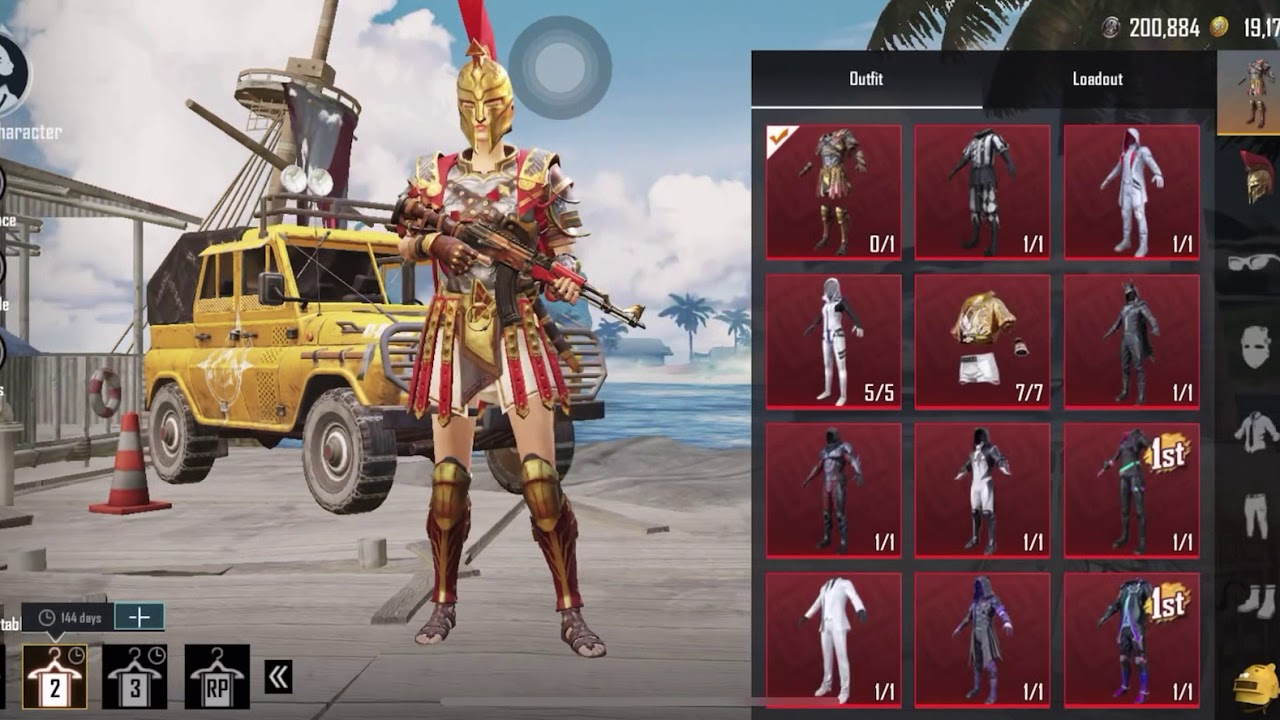 Pubg Mobile KR Account Sell | Top Mythical Outfits