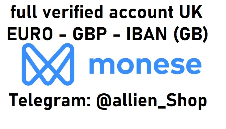 Monese UK - GBP - IBAN - GB First Sale Discount 45$