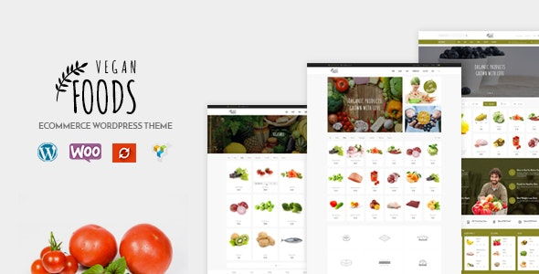 Vegan Food – Organic Store Theme – GPL