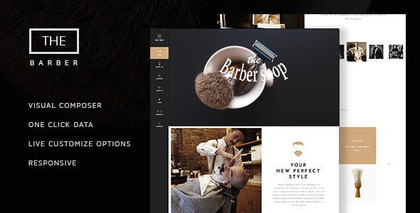 The Barber Shop – One Page Theme For Hair Salon �...