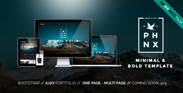 Phoenix – WordPress Minimal Multipurpose Portfolio...