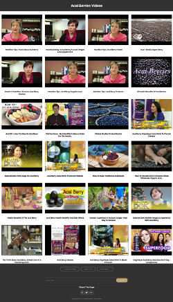 Acai Berries Instant Mobile Video Site