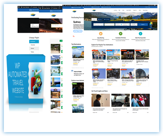 SELF UPDATING AFFILIATE WP TRAVEL SITE 100% AUTOMATED!