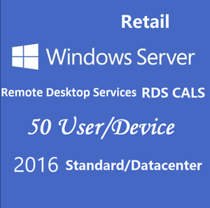 Windows Server 2016 Standard + RDS User/Device CALs