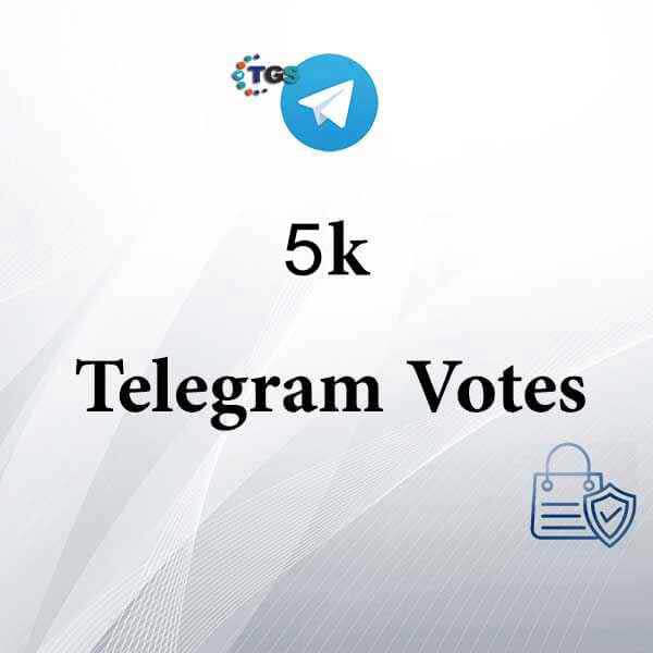 5000 Real Telegram Vote