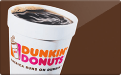 $6 Dunkin Donuts GC W/Pin - Instant Delivery