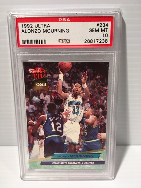 Alonzo Mourning 1992 Ultra Rookie Card PSA 10